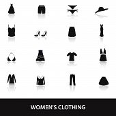 pic of womens panties  - 16 types of womens clothing icons eps10 - JPG