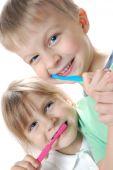 Постер, плакат: Дети чистки зубов