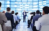 pic of public speaking  - Large group of people in business presentation - JPG