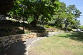 stock photo of cornerstone  - Garden Rosh Pina one of the oldest moshavot in Israel - JPG