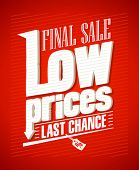 stock photo of year end sale  - Low prices - JPG