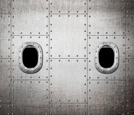 foto of ironclad  - ship or submarine window metal background - JPG