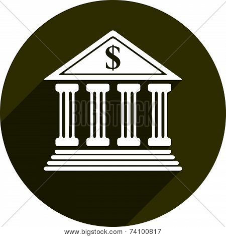 Bank building icon isolated. Economics and finance conceptual symbol.