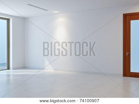 3D White Hall