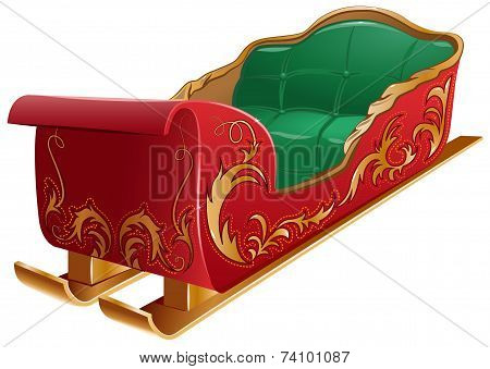 Christmas Santa's sleigh isolated