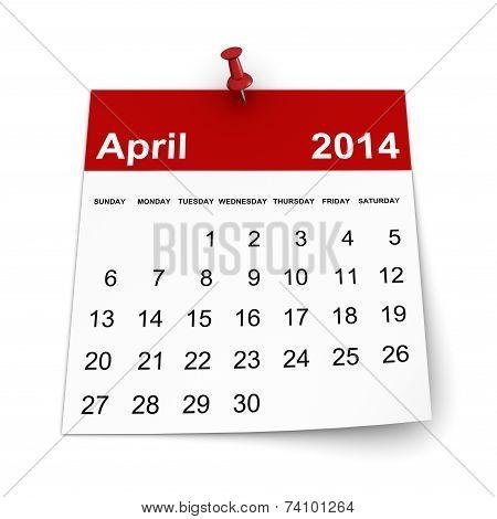 Calendar 2014 - April