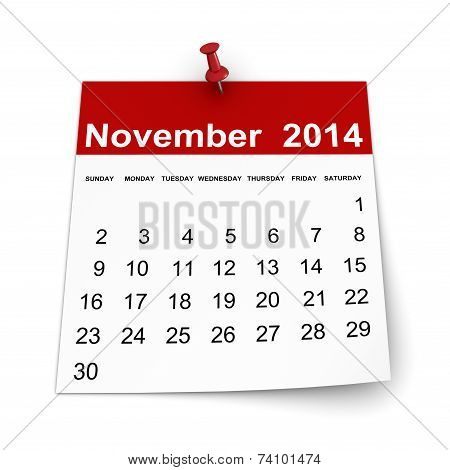 Calendar 2014 - November