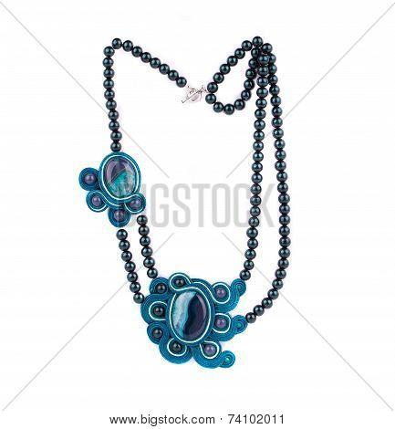 Handmade aquamarine necklace.