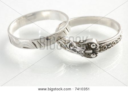 two different silver rings
