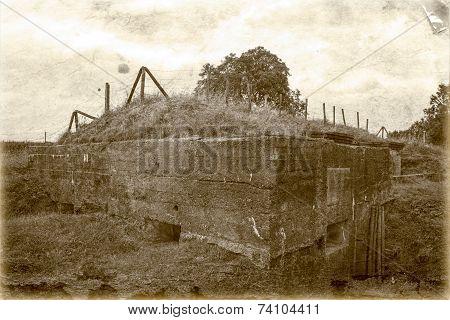 Bunker Pillbox Great World War 1 Flanders Belgium