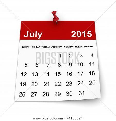 Calendar 2015 - July