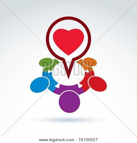 Heart And Society Icon, Medical Organization, Medical Fund, Love Theme, Conceptual icon