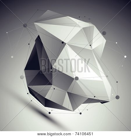 Spatial vector monochrome digital eps8 backdrop, dimensional technology asymmetric undertone figure