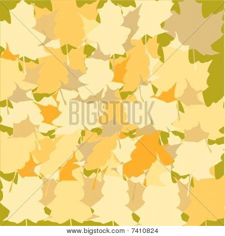 multicolored dried autumn leaves. vector