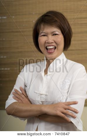Asian Woman Laughing