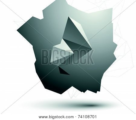 Modern digital technology style, abstract unusual background, vector spatial tech complicated 3d fig