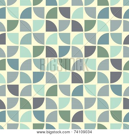 Colorful Geometric Background, Neutral Vintage Abstract Seamless Pattern.
