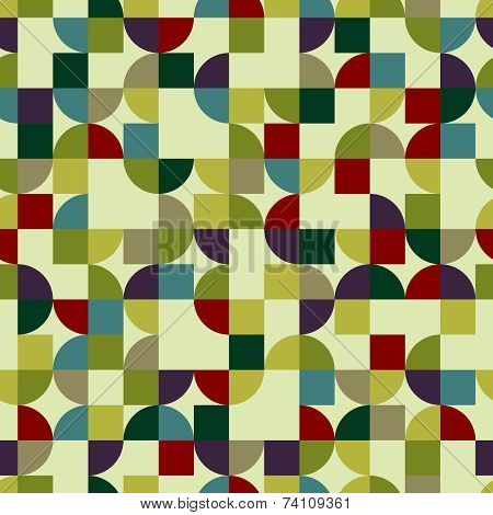 Vector colorful geometric background, squared pockmarked abstract seamless pattern.