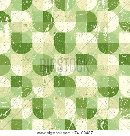 Geometric spherical seamless pattern, vintage