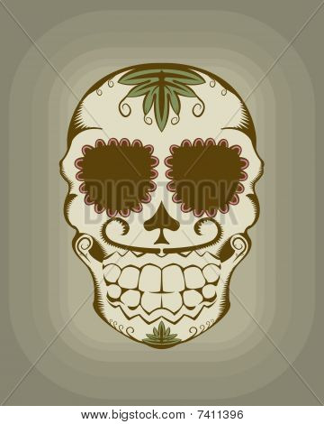 Vector illustration of sugar skull