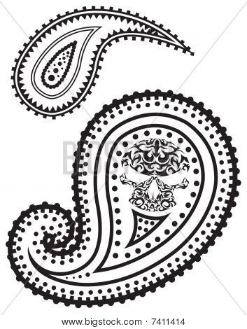 Vector illustration of paisley pattern