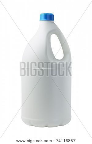 Plastic Container For Detergent On White Background