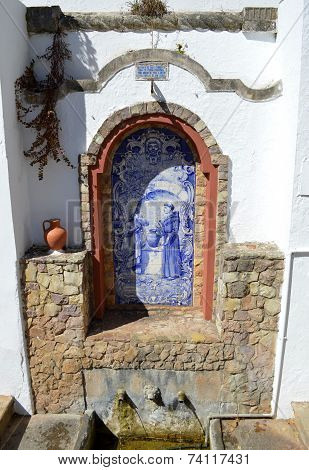 A spring water fountain in Alte, Portugal