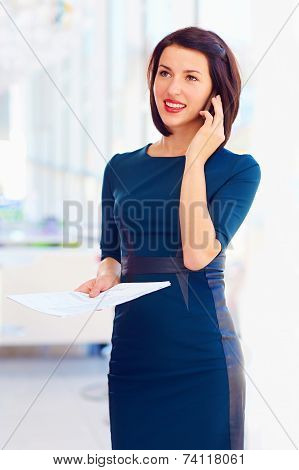Successful Business Woman Talking On The Phone