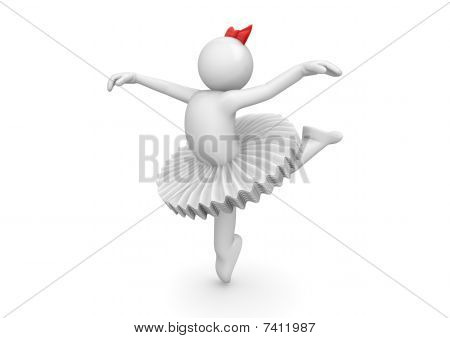 Ballerina Dancing In Tutu