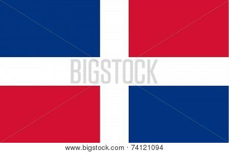 Civil Flag Of The Dominican Republic