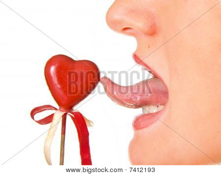 Red Heart And Tongue