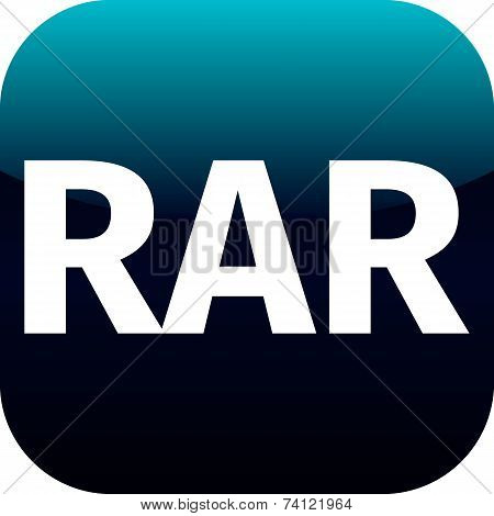 Archive Rar Blue Icon For Apps