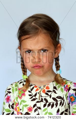 Girl showing disapproval