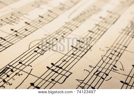 Retro sheet music, abstract art background