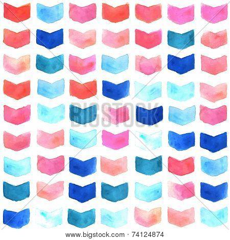 Watercolor geometric seamless pattern
