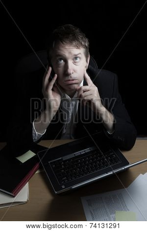 Businessman Ready To Lose Temper While On Call