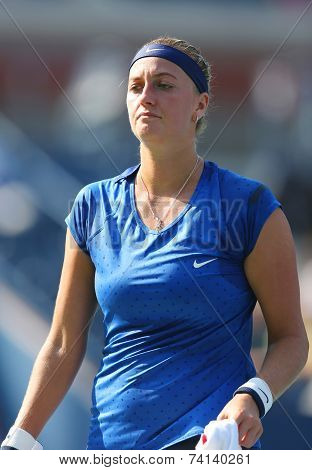 Two times Grand Slam champion Petra Kvitova during US Open 2014 first round match