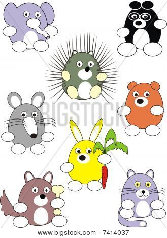Cartoon Animals Set.