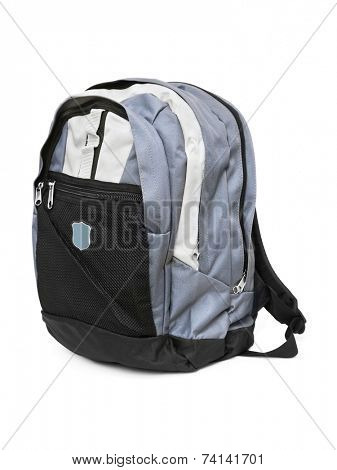 Backpack isolated on white background