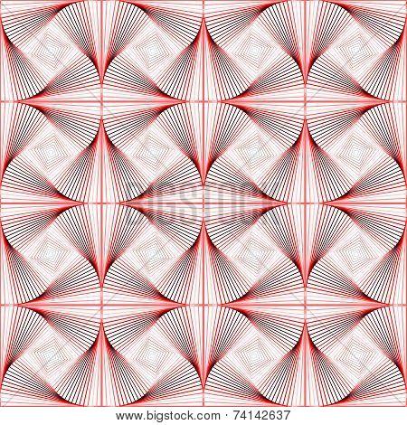Design Seamless Colorful Twirl Movement Illusion Pattern