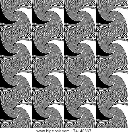 Design Seamless Whirl Movement Geometric Pattern