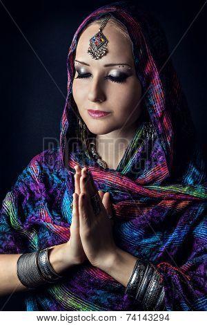 Woman Doing Namaste