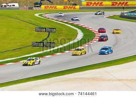 SEPANG, MALAYSIA - APRIL 9: Cars on track at race of Malaysian Super Series, April 9, 2011 in Sepang, Malaysia.
