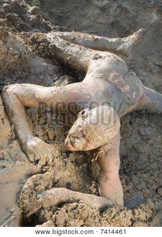 Naked Man  Mud