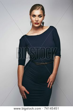 Portrait Of Confident Plus Size Model Posing