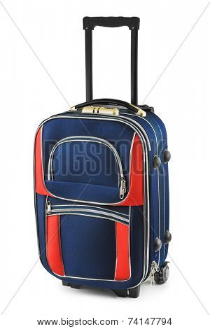 Big travel case isolated on white background