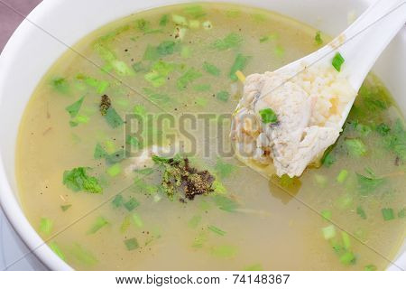 Rice Porridge With Fish