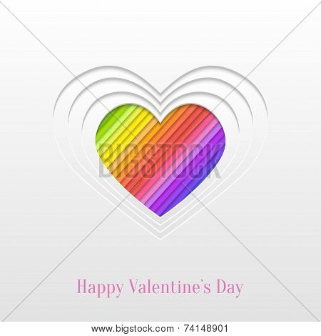 Creative Valentines Day Heart  Greeting Card