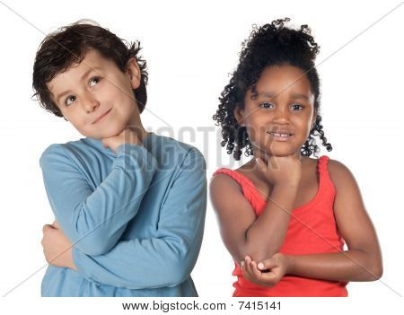 Adorable Children Thinking