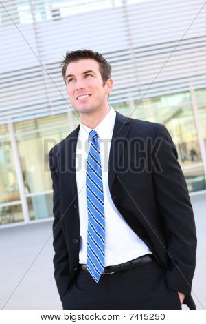 Handsome Business Man At Office